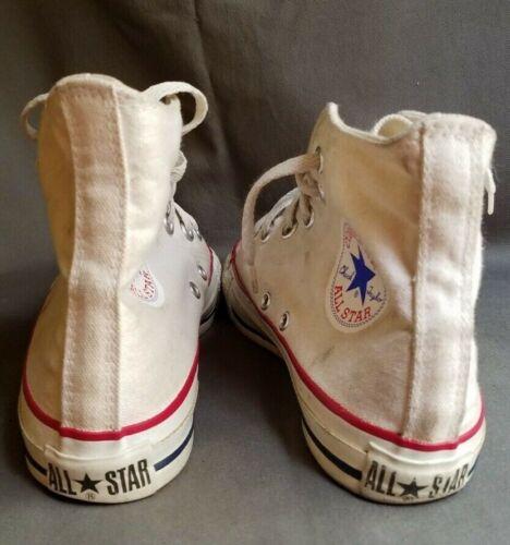 prodotte negli alte Stati Uniti bianca Converse All tela in Sz Sneakers 5 Star 5 E2IDeWH9Y