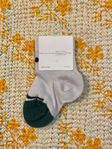 Hansel From Basel Kids Toddler Baby Blue Smile Face Happy Socks