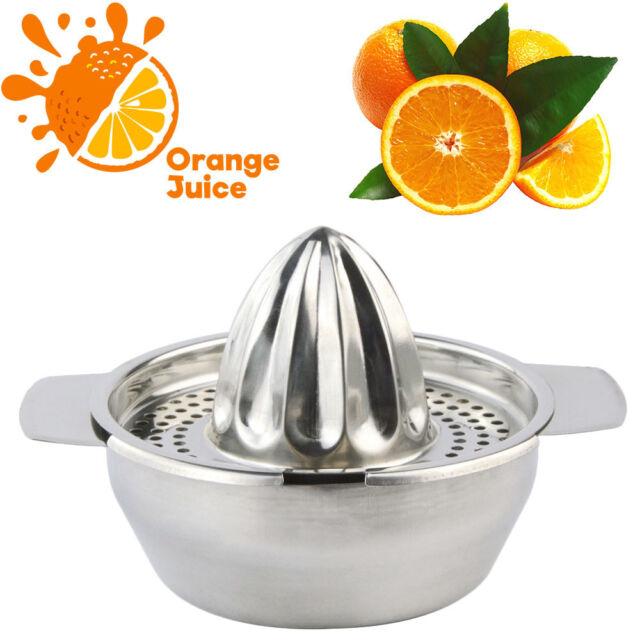 New Lemon Orange Fruit Lime Bar Stainless Steel Squeezer Juicer Hand Press