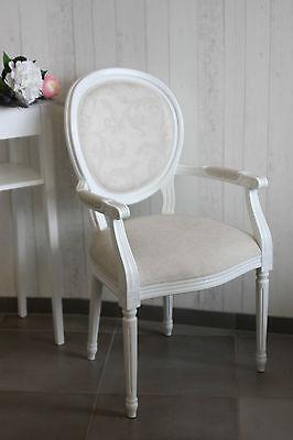Stuhl Armlehnstuhl Sessel Barockstuhl weiss Armlehnstuhl Landhaus