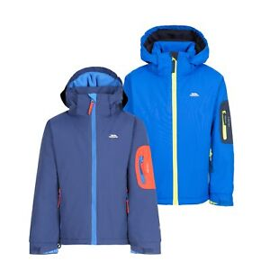 Trespass-Boys-Ski-Jacket-Waterproof-Blue-Hooded-Warm-Coat-Kids-2-12-Years