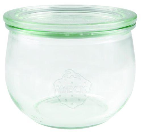Einmach Glas mit Glasdeckel Inhalt 500 ml 6 Stück Weck Tulpenglas