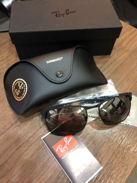 b106786f576 NEW Ray-Ban RB8319CH Matte BLK Carbon Grey Mirror Polarized Chromance  Sunglasses