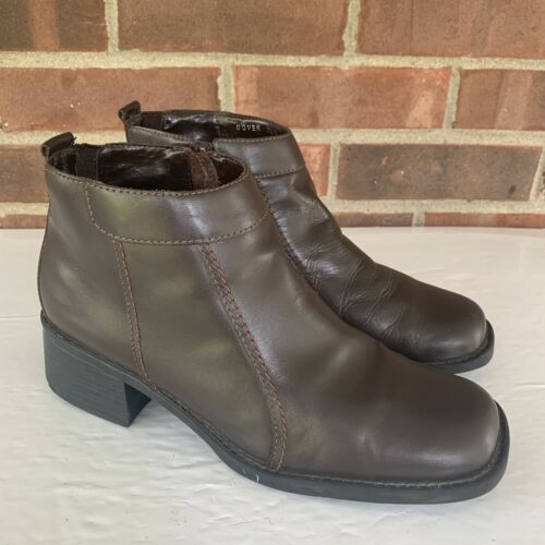 Dockers Dover black leather ankle boots Square Toe