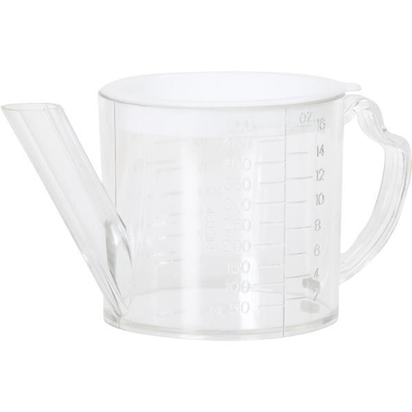 (12) - Norpro 2 Tasse en Plastique Clair Séparateur & Passoire Tasse à Mesurer 3023