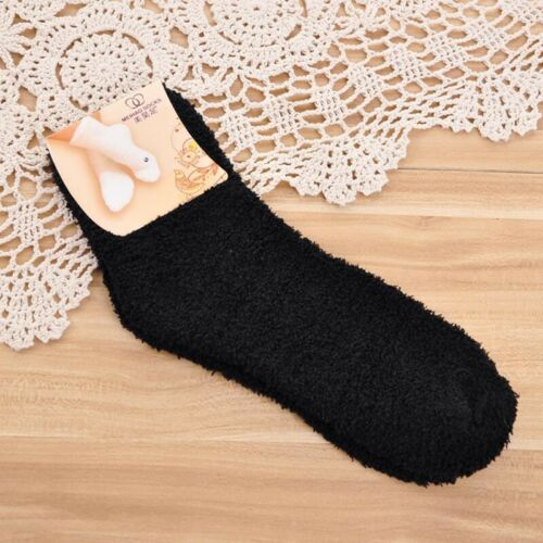 Women Girls Fluffy Home Soft Bed Floor Socks Thick Warm Winter Sock Colorful Tip