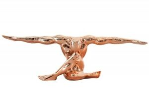 Other Antique Decorative Arts Designer Statue Athlete Muscles Sculpture Copper 25 5/8in Modern Pose Office