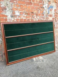 LARGE-DOUBLE-SIDED-MAHOGANY-NOTICE-BOARD-LINED-WITH-GREEN-VELOUR-BOARD