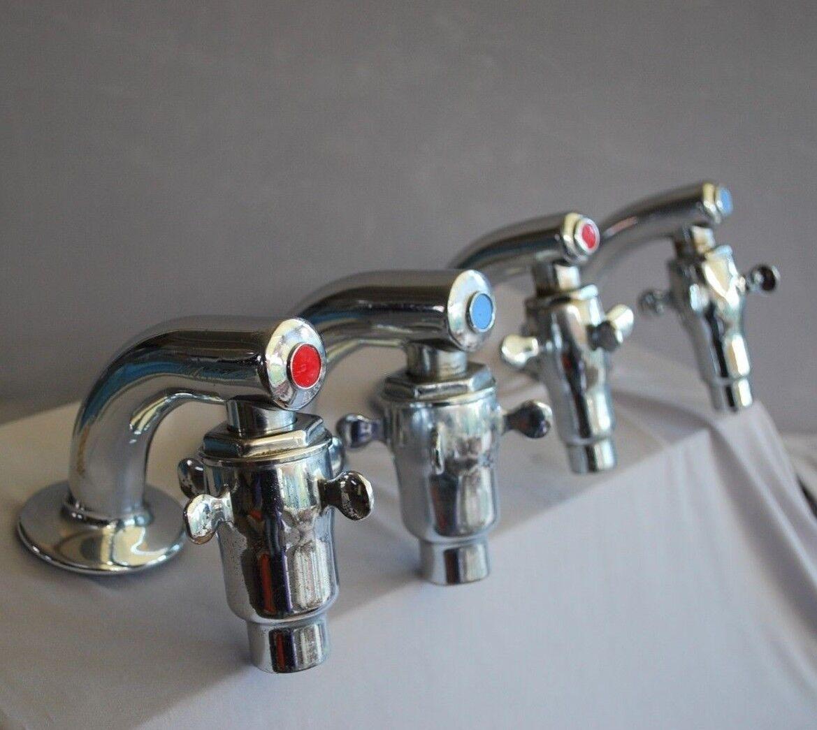 Antiguo Juego Bath & cuenca Retro Cromo Supa Terrajas para un cuarto de baño en Suite Etc