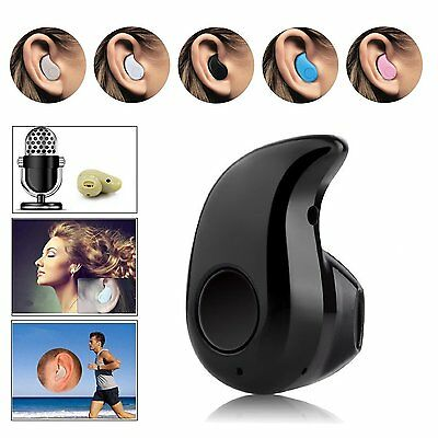 Wireless Invisible Bluetooth Mini Earphone Earbud Headset For iPhone Samsung LG