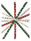 SATIN CHRISTMAS RIBBON 3 METRES - Bow, Snowflake, Merry Christmas ribbon designs