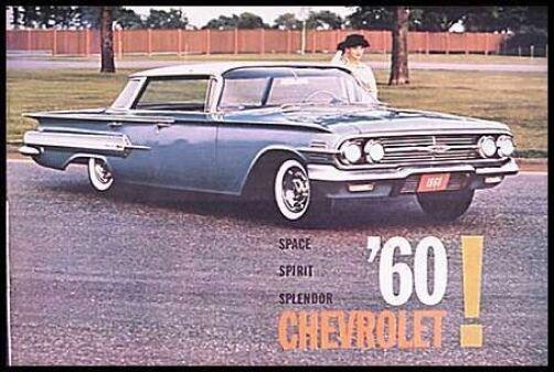 1960 Chevrolet Brochure Impala Bel Air Biscayne