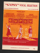 Gypsy Vocal Selections Natalie Wood - Movie Version Sheet Music