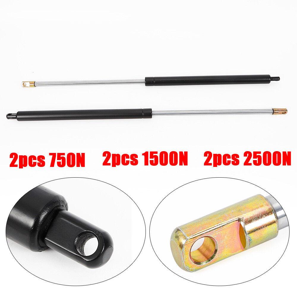 2x Gasdruckdämpfer Gasfeder Gasdruckfeder 750N//1500N//2500N 750 mm Gesamtlänge