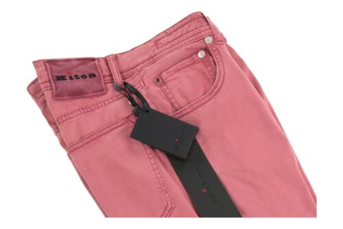 NEW Kiton Cly//Elastane Men/'s 5-Pocket Pants//Jeans Light Redwood 31US//47EU