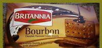 Britannia Bourbon Chocolate Flavoured Cream Biscuits Pure Vegetarian
