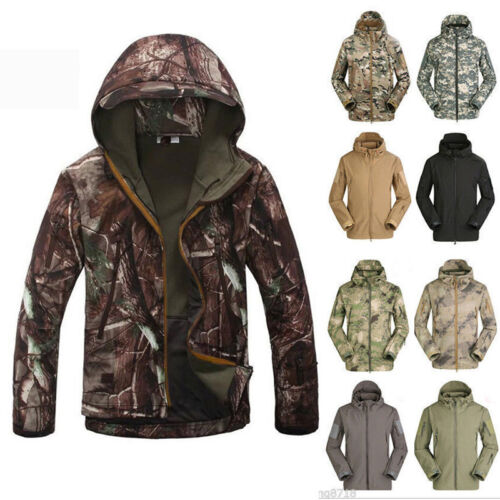 Men Hoodie Shark Coat Outdoor Jacket Tad Shell Skin Esdy Waterproof Sports Soft w5nxXwP