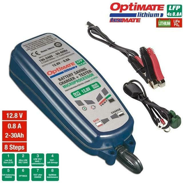 Chargeur Mainteneur Moto Batteries Lithium 0.8A Kymco / Geely /Daelim/Hyosung
