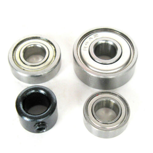 """3//4/"""" Bearing /& Stop Ring for 1//4/"""" Shank Router Bit 5//8/"""" 4pc Top Mounted 1//2/"""""""