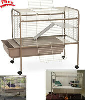 Rabbit Guinea Pig Cage Hutch Small Animal Pet Bunny Indoors Outdoors Wire Lodge