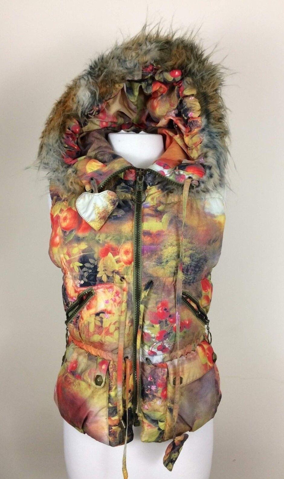 Daite Women XS Vest 36 100% Polyester Multi-color - Excellent