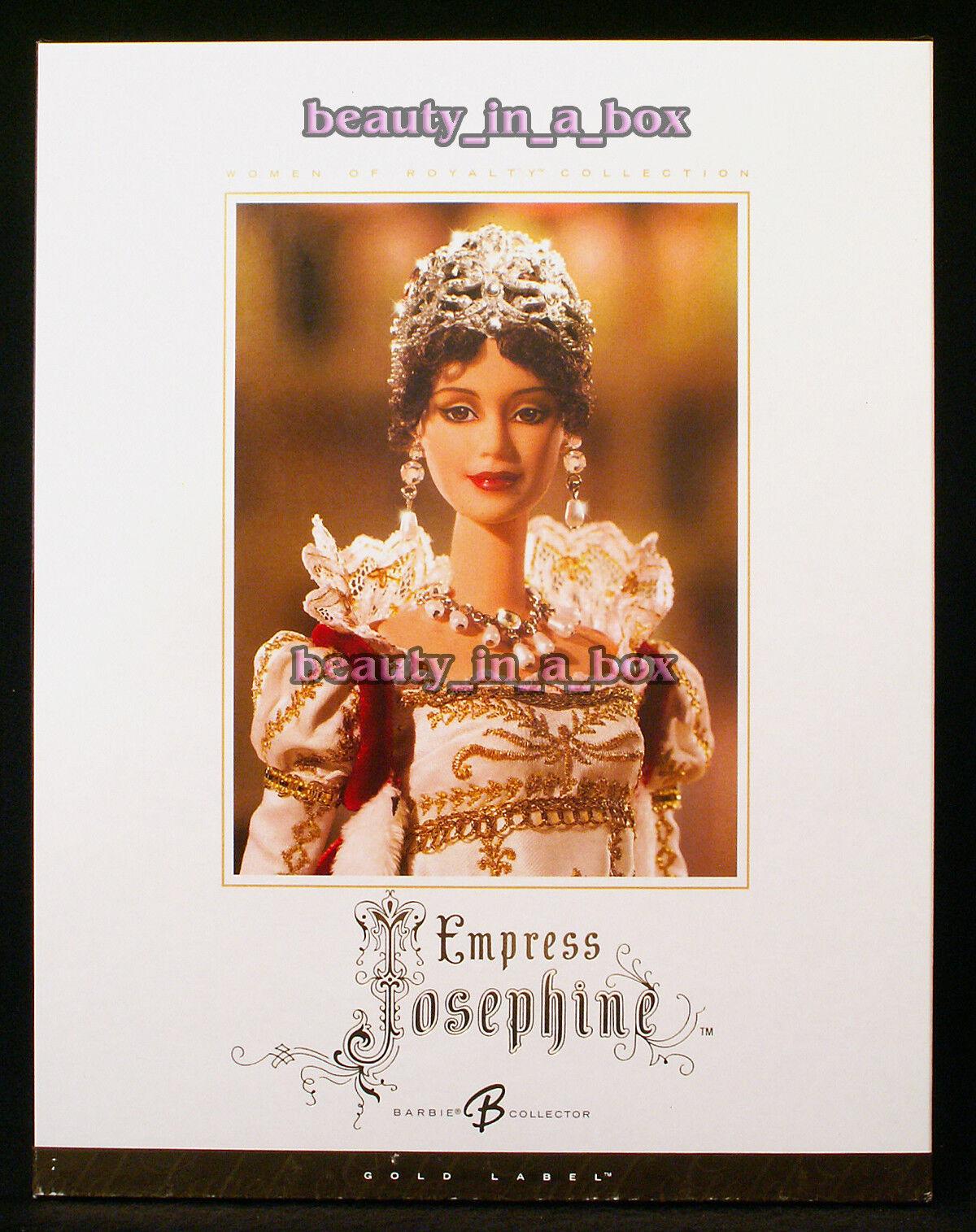 Muñeca Barbie EMPRESS JOSEPHINE Mujer de la realeza Serie oro Label  mnrfb en muy buena condición Box