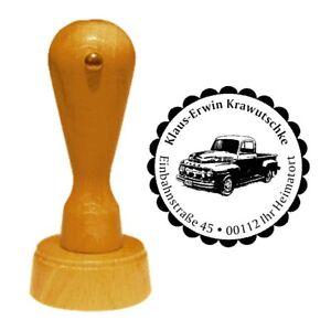 Stempel « AMERIKANISCHER PICKUP » Adressenstempe<wbr/>l Motiv Name Amerika Auto USA