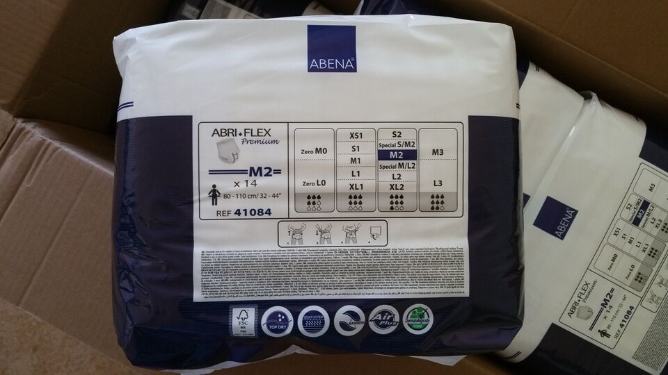 Andet, ABRI Flex Premium - bleer M2. 6 pakker.