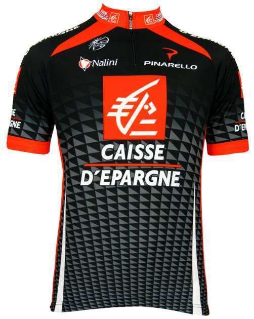 Caisse d'Epargne 2010 Nalini - Radtrikot mit kurzem Reißverschluss