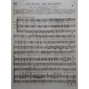 DALAYRAC-Nicolas-Renaud-d-039-Ast-Duo-Chant-Harpe-ca1792-partition-sheet-music-score