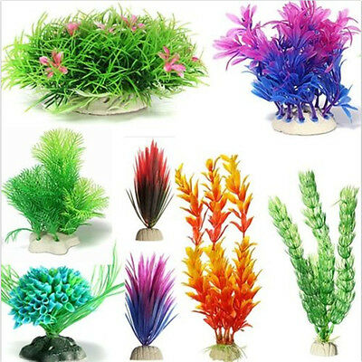 13 Artifical Grass Aquarium Decor Water Weeds Ornament Plant Fish Tank Decor New