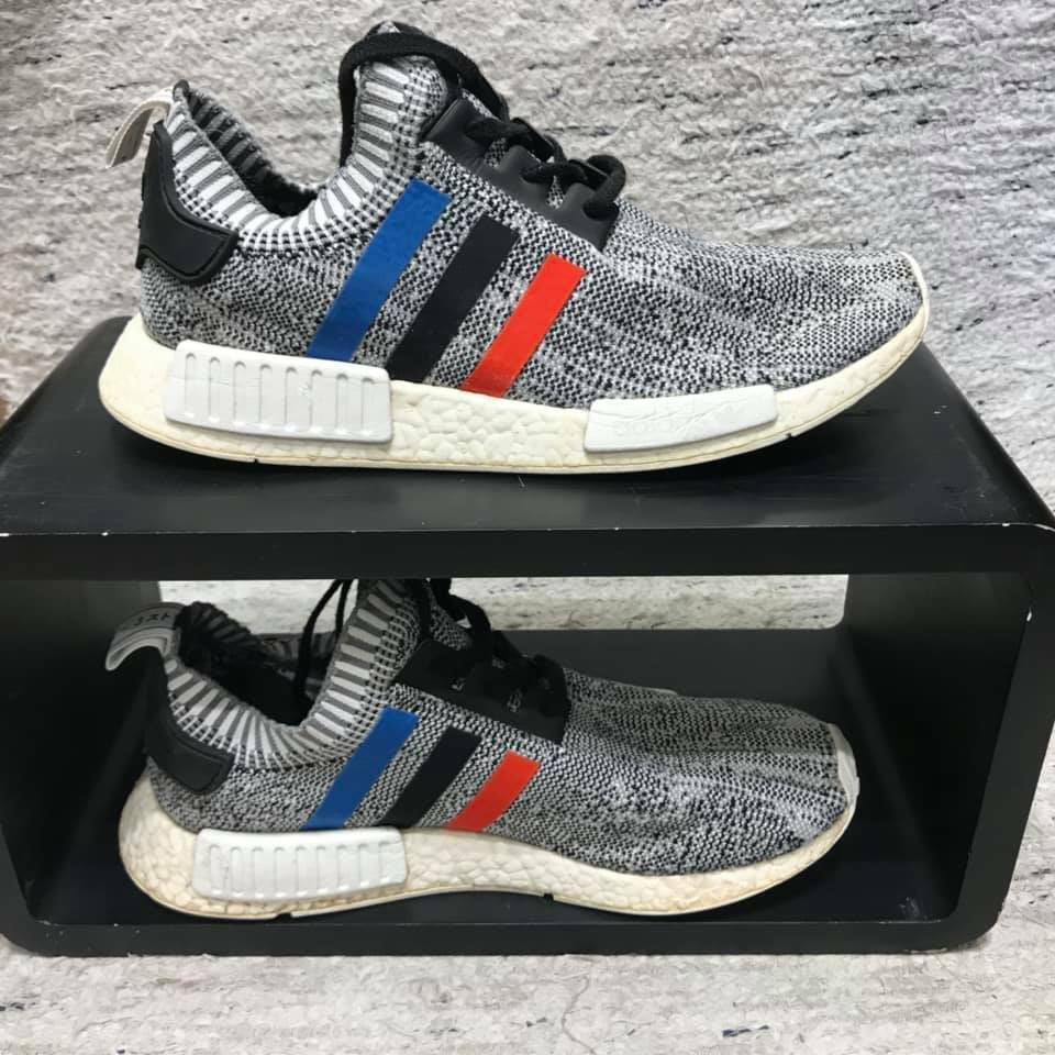 Beautiful ADIDAS NMD R1 Tri color Stripes White, BB2888, 10 1 2  US   44 2 3 EU