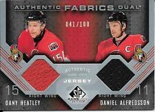 07/08 SP Game Used Fabrics Dany Heatley & Daniel Alfredsson Dual Jersey #041/100
