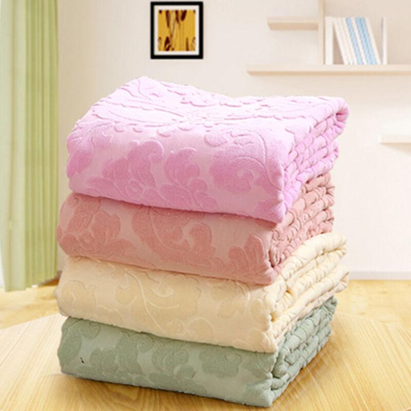 Pure cotton blanket flower relief soft blanket towel blankets summer spring BLKT