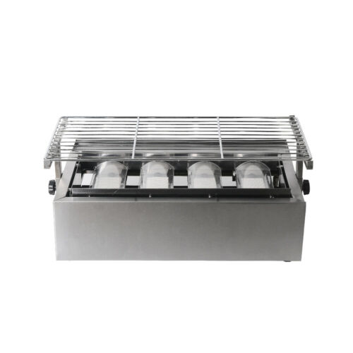 Camping Gas BBQ Grill 4 Burner Stainless Steel Outdoor Picnic Barbecue Cooker