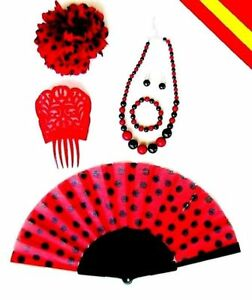 728f47c0a35d La imagen se está cargando Set-de-complementos-Sevillana-Flor-peineta- Conjunto-Bisuteria-