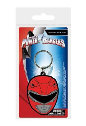 Power Rangers porte-clés caoutchouc Red Ranger Helmet 5 cm keychain 38623