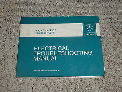1982 mercedes benz 380sec 380 sec electrical wiring diagrams manual  ebay
