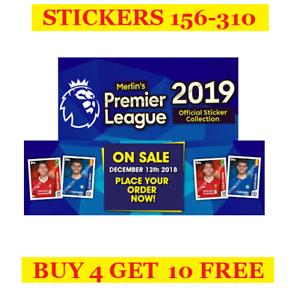 Topps-Merlin-039-s-Premier-League-Season-2019-Single-Stickers-156-310-2018