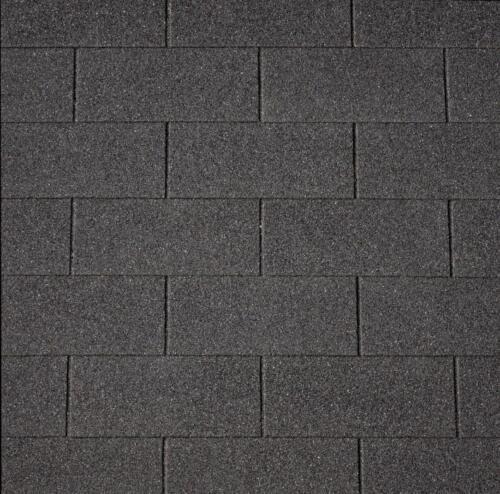 schwarz Easy Rechteck-Dachschindeln 80 x 33,6 cm