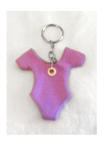 Pillows for Pointes KC-MSL Lavender Minitard Leotard Key Chain
