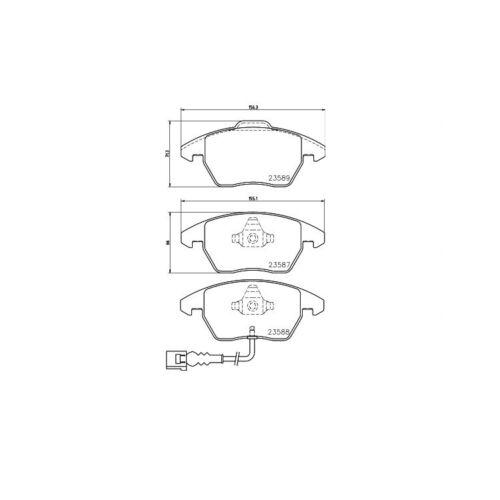 4 textar Epad Ceramic fusion plaquette de frein plaquettes de frein avant