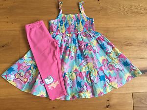 BABY Girls MARKS /& SPENCER HELLO KITTY TUNIC TOP DRESS LEGGINGS SET 12-18 18-24