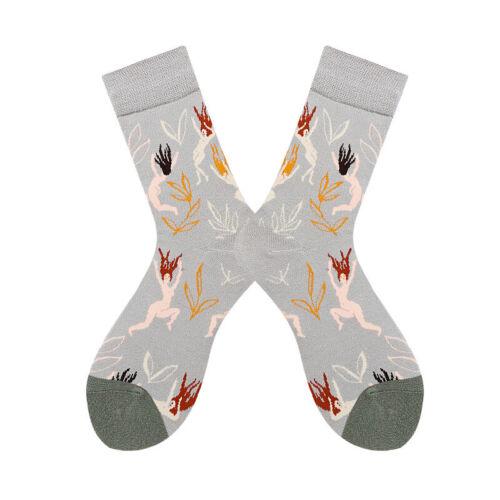 Girl Womens Funny Cotton Socks Fancy Colorful Flowers Novelty Dress Crew Hosiery