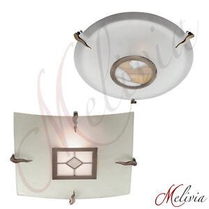 Lampara-Luz-de-techo-Tiffany-Cristal-Laton-Antiguo-Rendondo-anguloso-Colgante