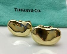TIFFANY & CO ELSA PERETTI 18K GOLD BEAN CUFFLINKS GORGEOUS HEAVY