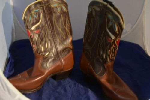 Vintage 1930's - 40's Acme Highly Decorated Boots,