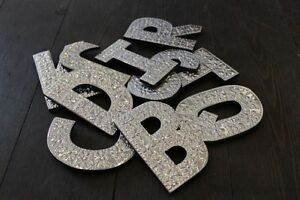 ALUMINIUM-LETTERS-WALL-HANGING-A-Z-4-034-8-034-GLITTER-NAME-WEDDING-BIRTHDAY-GIFT