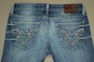 Big-Star-Sweet-Ultra-Low-Rise-Boot-Cut-Jeans-Women-039-s-Size-27-Medium-Wash-Denim