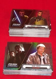 Star-Wars-EVOLUTION-Complete-Base-Trading-Card-Set-Topps-2016
